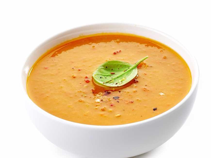 ซุปฟักทองมะเขือเทศ