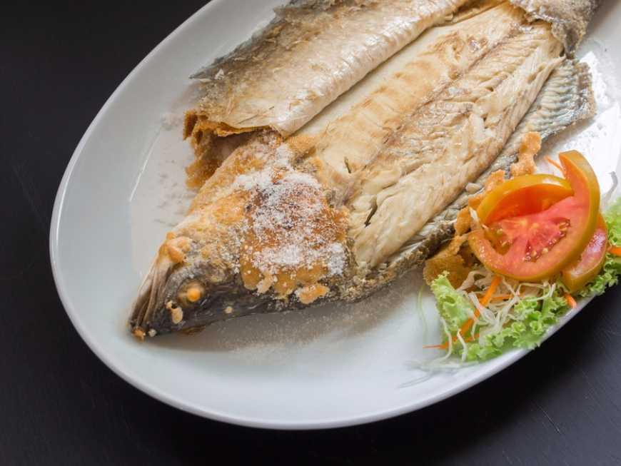 ปลากะพงขาวเผา