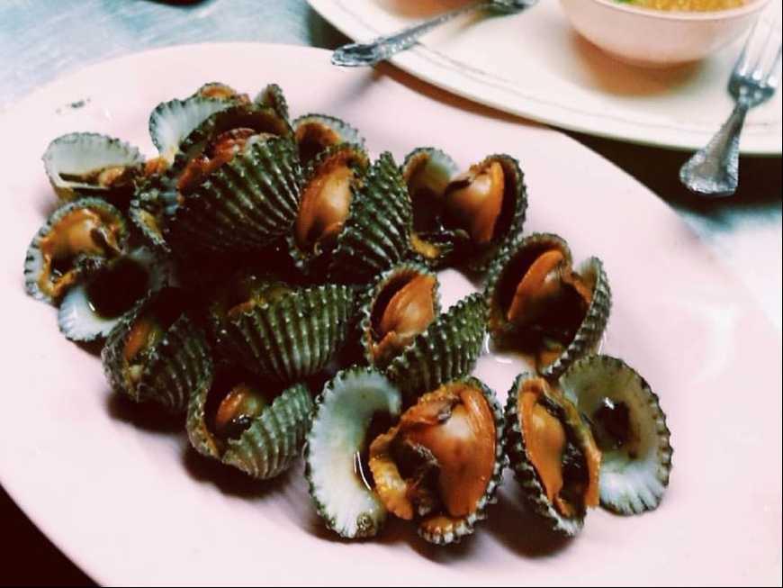 หอยแครงนึ่ง