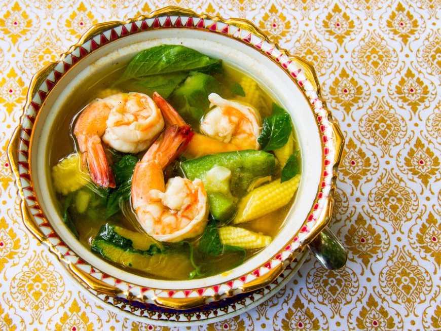 สูตร อาหาร แกงเลียงกุ้งสด ของ เมนู .net