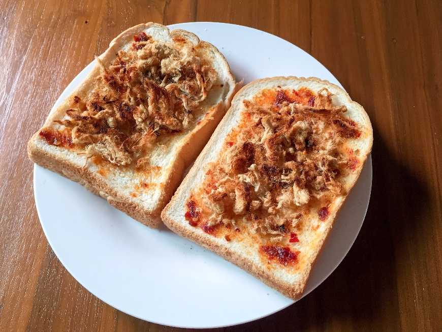 แซนด์วิชหมูหย็องน้ำพริกเผา