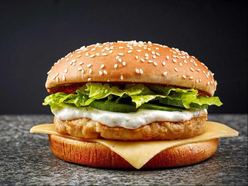 แฮมเบอร์เกอร์ไก่ทอด