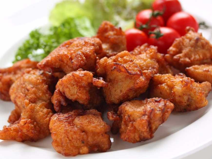 ไก่ทอดข้าวคั่ว