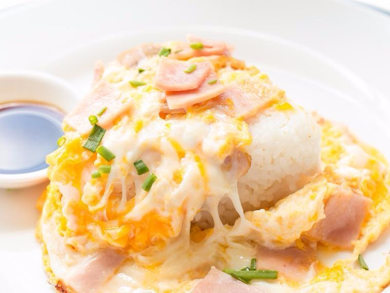 ไข่เจียวแฮมหมู