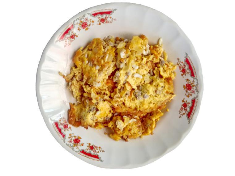 ไข่เจียวไข่มดแดง