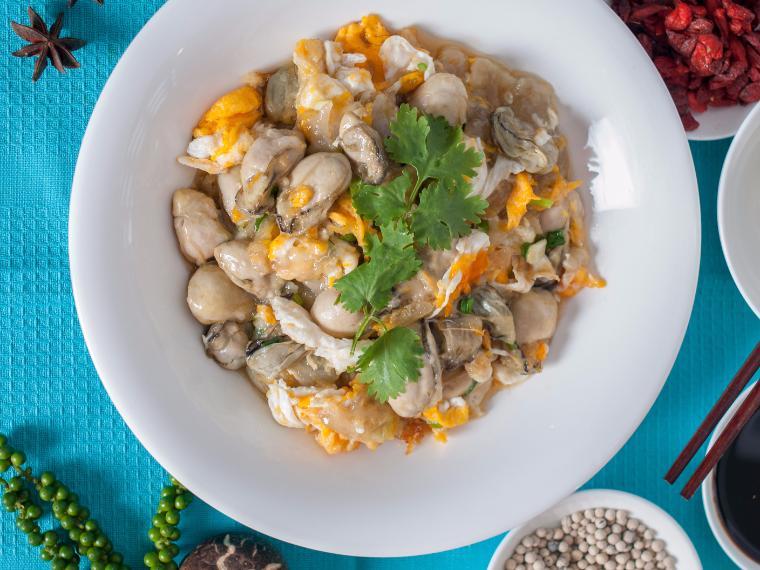 หอยนางรมผัดไข่